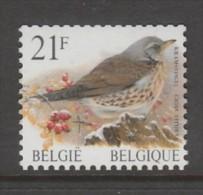 TIMBRE NEUF DE BELGIQUE - OISEAU DE BUZIN : GRIVE LITORNE N° Y&T 2792 - Passereaux