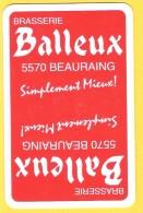 Dos De Carte : Brasserie Balleux Beauraing - Cartes à Jouer Classiques