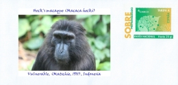SPAIN, 2016 Primates Apes Monkeys, Heck´s Macaque (Macaca Hecki)  Vulnerable, (Matschie, 1901), Indonesia