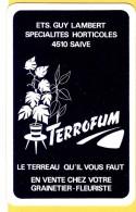 Dos De Carte : Ets Guy Lambert Saive Fleurs Terreau - Speelkaarten
