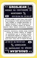 Dos De Carte : Grosjean & Fils Montignies Sur Sambre Profilés Tubes - Speelkaarten