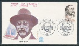 1982 Env 1er Jour N°1306 Léon Blum - Paris - 1980-1989