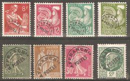 France  Préoblitéré Lot De 8 TP - 49, 59, 72, 86, 108, 111, 114, 120 Neufs * Avec Charniéré Ou Trace - Départ Petit Prix - 1953-1960