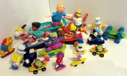 18 Personnages En ROLLER Jouets Mac DO Ou Kinder TINTIN,SUPERMARIO,SNOOPY, - Other