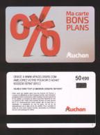 GIFT CARD - Carte Cadeau Auchan BONS PLANS - 50 € - Cartes Cadeaux