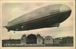 """LZ 127 """"""""Graf Zeppelin"""""""" über Der Luftschiffhalle, Sauber Ungebraucht - Zeppeline"""