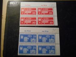 DDR 1959 Schöne Postfrische Eckstücke Als 4er Block - [6] Democratic Republic