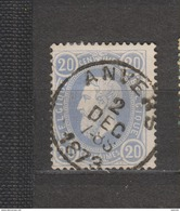 COB 31 Oblitéré ANVERS - 1869-1883 Léopold II
