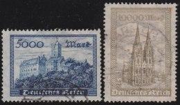 Deutsches  Reich    .      Michel    261/262       .      O    .    Gebraucht  .   /   .   Cancelled