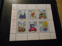 DDR 1980 Postfrischer Kleinbogen Historisches Spielzeug - Unused Stamps
