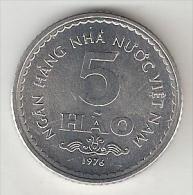 Vietnam  5 Hao 1976  Km   13  Unc - Viêt-Nam