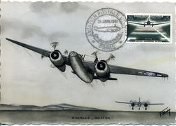 "CPA 1961 DOUGLASS ""BOSTON"" Aviation Postale De Nuit - Vliegtuigen"