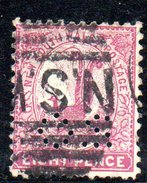 T1756 - NEW SOUTH WALES 8  Pence Wmk Crown On NSW  Used . Punctured OS - 1850-1906 New South Wales