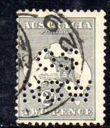 T1766 - AUSTRALIA 2 Pence  Wmk Crown On A  Used . Punctured OS NSW - 1850-1906 New South Wales