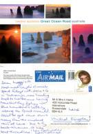 Twelve Apostles, Great Ocean Road, Victoria, Australia Postcard Posted 2013 Stamp - Australië