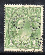 T1775 - AUSTRALIA 1 Penny  Wmk Crown On A  Used . Punctured OS NSW - 1850-1906 New South Wales