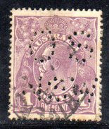 T1778 - AUSTRALIA 1 Penny  Wmk Crown On A  Used . Punctured OS NSW - 1850-1906 New South Wales