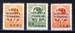 1941 - Francobolli Di Jugoslavia Soprastampati  Serie Completa - Fiume & Kupa