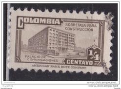 Colombia 1946, Postal Tax, 1/4c, Ministry Of Post & Telegraph, Used - Kolumbien