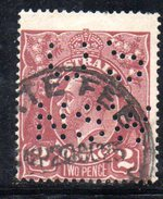 T1794 - AUSTRALIA 2 Penny  Wmk Crown On A  Used . Punctured OS NSW - 1850-1906 New South Wales