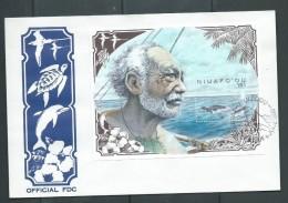 Tonga Niuafo´ou 1990 Whale Miniature Sheet On FDC - Tonga (1970-...)