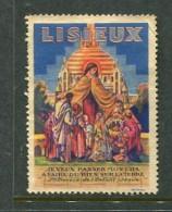 "Lisieux St Therese De L'Enfant Jesus Reklamemarke Poster Stamp Vignette No Gum 1 3/8 X 1 7/8"" - Cinderellas"