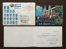 Letter FI000098 - Football (Soccer / Calcio) Dinamo Zagreb Croatia 1976 - Soccer
