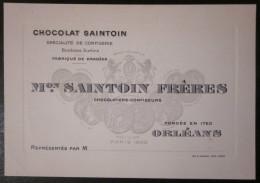 Carton Chocolat Saintoin - Orléans - Chocolat