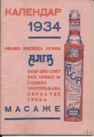 Calendar KA000013 - Alga Susak 1934 - Petit Format : 1921-40