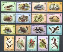 183 KIRIBATI 1982/83 - Yvert 62 77 + 95 - Oiseau - Neuf ** (MNH) Sans Trace De Charniere - Kiribati (1979-...)
