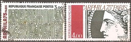 France - 1975 - Arphila 75 – Paris - YT 1832 Et 1833 Oblitérés