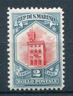 San Marino - 1929 - Palazzo Del Consiglio - 2 Lire ** MNH - Nuevos