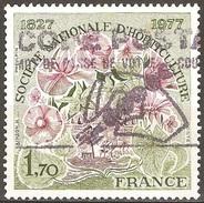 France - 1977 - Société Nationale D'horticulture - YT 1930 Oblitéré