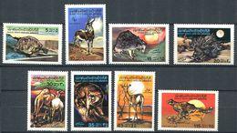 183 LIBYE 1979 - Yvert 734/41 - Dromadaire Porc Epic Tortue ... - Neuf ** (MNH) Sans Trace De Charniere - Libye