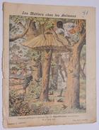 RARE ET ANCIEN PROTEGE CAHIER LES METIERS CHEZ LES ANIMAUX TOITURE ARTISTIQUE CHARIER SAUMUR - Protège-cahiers