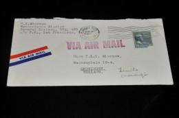1- Envelop Uit  San Francisco Naar Groningen Holland - United States