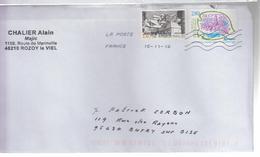 France Lettre 2016 2 Timbres - France