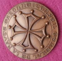 Medaille En Bronze 275 Gr Conseil Général De La Haute Garonne 1987 - France