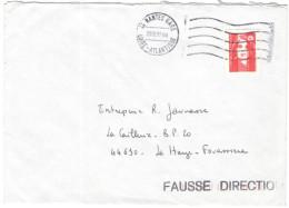 FRANCIA - France - 1993 - Marianne Du Bicentenaire Rouge - FD, Fausse Direction - Viaggiata Da Nantes Gare Per La Hai... - Storia Postale