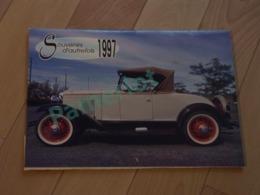 Old Car - Calendrier  Souvenir D'autre Fois 1997, Vieille Autos, Vhrysler 1962, Pontiac 62, Buick 51 Etc.. - 2 Scan - Calendriers