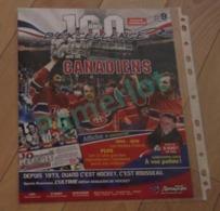 Hockey Canada -Serie Hommage Poster Géant100 Ans D'excellence Avec Les Canadiens Affiche 42 X 56 Cm Ouvert #9 - Hockey - NHL