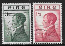 Ireland, Scott # 149-50 Used Robert Emmet,  1953 - 1949-... Republic Of Ireland
