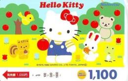 Carte Prépayée  Japon * HELLO KITTY (850) BD COMICS * CAT * CAT * CHAT * Katze PREPAIDCARD JAPAN * KARTE - Comics