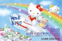 Carte Prépayée  Japon * HELLO KITTY (855) BD COMICS * CAT * CAT * CHAT * Katze PREPAIDCARD JAPAN * KARTE - Comics