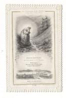IMAGE  PIEUSE ( Canivet Dentelé, Vers 1870 ) / LES PREDICTIONS DE LA SALETTE ( Fin Des 2 Sièges De Paris : 1849 + 1870 ) - Images Religieuses