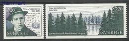 Sweden 1988 Mi Par1508-1509 MNH -  Signatures / Manuscripts Czeslaw Slania Writers / Poets Trees And Forests  ( ZE3 SWDp
