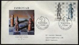 Faroe Islands  1983   Chess Figures    MiNr.82-83  FDC   ( Lot Ks  ) - Féroé (Iles)