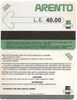 @+ Egypte - ARENTO LE 40.00 - Mantegazza (neuve) - 1988 - Egypte