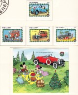 GAMBIE - 1989 - Disney Noël Voiture  - Yvert 857/860 + BF 82 -  Neufs ** - Gambie (1965-...)