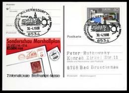 95242) BRD - SoST 8534 WILHERMSDORF Vom 30.04.1988 Auf Postkarte PSo 16 - 140 Jahre Post - Machine Stamps (ATM)